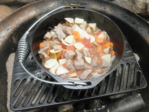 Comforting Stew on the Campfire