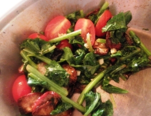 Roasted Radishes & Greens